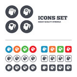 Head with brain icon.Female woman symbols Royalty Free Stock Photos