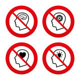 Head with brain icon. Male human symbols Royalty Free Stock Photo