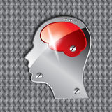 Head brain with seamless background Stock Image