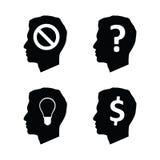 Head brain think Stock Image
