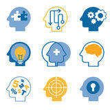 Head brain vector icons Stock Photo
