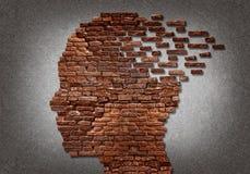 Head of bricks vector illustration
