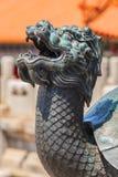 Head of bronze turtle in Fobidden city Stock Images