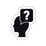 head bubble speech question mark Royalty Free Stock Image