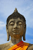Head buddha. Face and Head  buddha of  temple thailand Royalty Free Stock Photo
