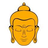 Head of Buddha icon cartoon Stock Images