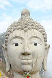 Head of Buddha Image in Public Temple Royalty Free Stock Photography