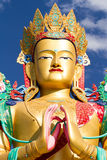The head of Buddha Matreia statue in Nubra valley Stock Images