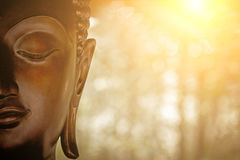 A head of Buddha Statue. Stock Photos