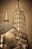 Head of Buddha in the Temple of the Huge Swing stock image