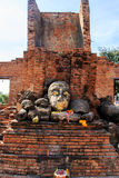 Head of Buddha at Wat Worachet Temple ,The Ancient Siam Civilization of Ayutthaya Thailand Royalty Free Stock Photos