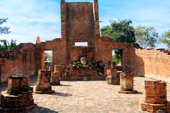 Head of Buddha at Wat Worachet Temple ,The Ancient Siam Civilization of Ayutthaya Thailand Stock Photography