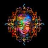 Head Buddha watercolor