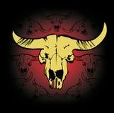 Head buffalo logo new. Abstract aggri logo sign rice gold. vector sun rising under the field icon, eco symbol, logo buffalo head sign Royalty Free Stock Photos