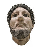 Head bust of Egyptian man isolated Royalty Free Stock Images