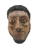 Head bust of Egyptian man isolated Royalty Free Stock Image