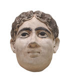 Head bust of Egyptian woman isolated. Stock Photo
