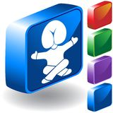 Head in Butt 3D Icon. Metaphor for having your head up your... - 3D button set Stock Photo