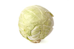 Head of cabbage. A head of cabbage isolated on white background Royalty Free Stock Photography