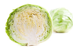 Head of cabbage. In half dissected Royalty Free Stock Images