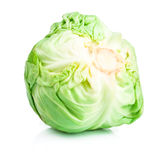 Head Cabbage isolated on white Royalty Free Stock Photos