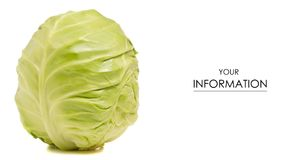 The head of cabbage pattern stock image