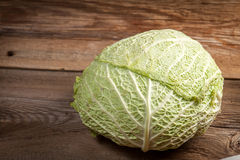 The head of cabbage. Royalty Free Stock Images