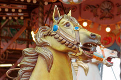 Head of carousel horse Stock Images