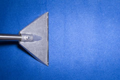 Head of carpet extraction cleaner. On Blue carpet from top view Royalty Free Stock Photo