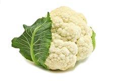 Head cauliflower. Isolated on white Stock Photo