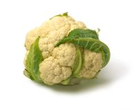 Head of Cauliflower isolated Stock Photo