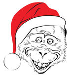 Head cheerful monkey Stock Photography