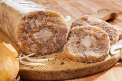 Head cheese cold cut. Stock Image