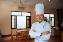 Head chef in Asian restaurant Royalty Free Stock Photography