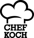 Head Chef Cook. Occupation vector Royalty Free Stock Photography