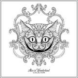 The head of the Cheshire cat from the fairy tale Alice in Wonde Stock Photo