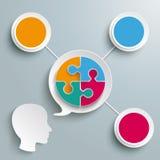 Head cirklar för pussel 3 för anförandebubblacirkel Royaltyfri Bild