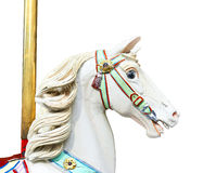 Head of a classic carousel horse.  clipping path Stock Photography