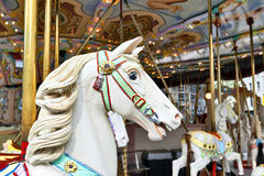Head of a classic carousel horse Royalty Free Stock Image