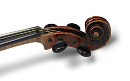 Head of classical violin Royalty Free Stock Image