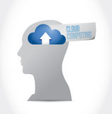 Head and cloud computing illustration design Royalty Free Stock Photos