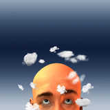 Head in clouds Stock Photography