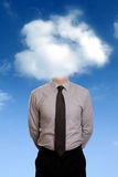 Head in the clouds Royalty Free Stock Image