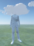 Head in clouds Royalty Free Stock Photography