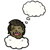 Head in clouds cartoon Royalty Free Stock Image