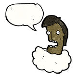 Head in the clouds cartoon Royalty Free Stock Photos