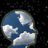 Head in the clouds Stock Image