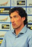 Head coach of FC Dnipro Dmytro Mykhaylenko Royalty Free Stock Photos