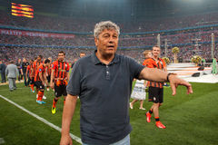 Head coach of FC Shakhtar Donetsk Mircea Lucescu Stock Photos
