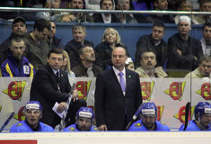 The head coach of Kazakhstan Andrei Khomutov Royalty Free Stock Photo